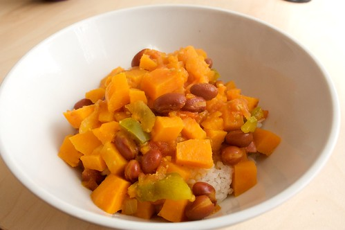 sweet potato and red bean curry from vegan planet