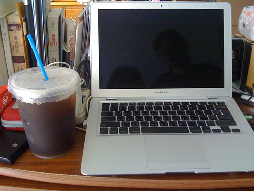 1L of tea, with MacBook air