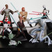 hasbro clone wars figures: mace windu, obi-wan kenobi, asajj ventress, arc trooper, yoda, anakin skywalker, darth grievous (2003)