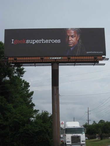 I geek superheroes billboard