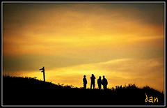 LOST (brynmeillion - JAN) Tags: sunset sky cliff beach wales cymru signpost ceredigion picnik awyr llangranog bej mywinners nikond80 platinumphoto anawesomeshot 25plus infinestyle theunforgettablepictures thesuperbmasterpiece saariysqualitypictures
