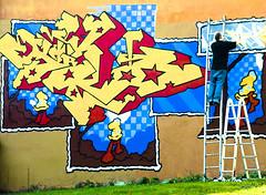 The graffiti maker (Maron) Tags: colors oslo norway graffiti paint colours spray painter tagging rodelkka supermarion marionnesje