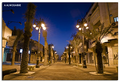 Road  (A.Alwosaibie) Tags: road light photo nikon long exposure shot market spotlight 1855mm 15mm vr ksa d60  alhasa          aalwosaibie