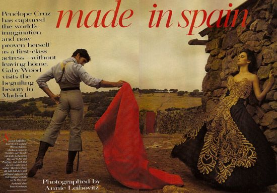 Pen彬ope Cruz' Vogue Photos. tag: penelope-cruz spain actress