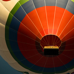 OTTAWA, BALLOON Landing, Is the champagne cold? (Marie-Marthe Gagnon) Tags: blue red sky ontario canada hot up square colours air ottawa balloon hotairballoon rule thirds ruleofthirds flickrchallengegroup flickrchallengewinner mariegagnon mariemarthegagnon mariemgagnon