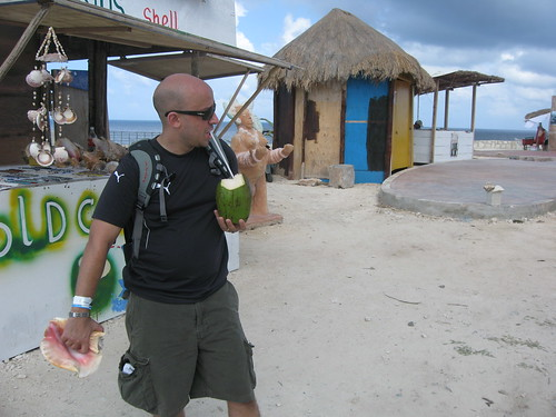 Jon enjoying his Coco Frio and Conch horn