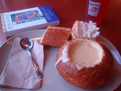 broccoli cheddar, breadbowl, F. Scott Fitzgerald