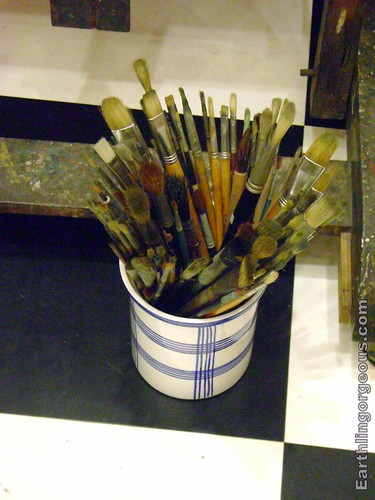 Pain Brushes used by Ang Kiukok