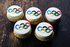 Oly inspired cupcakes! (Coco Cake Land) Tags: olympics vancouver2010 cupcakesvancouver seenonflickr cococakecupcakes cococakecupcakesvancouver cococakevancouver olympicscupcakes