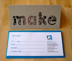 Gift vouchers for supplies or workshops (:: the make lounge ::) Tags: london craft gift voucher workshops giftvoucher themakelounge
