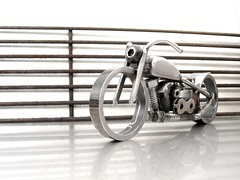 Motorcycle art Bike 100 Harley Davidson knucklehead (5)