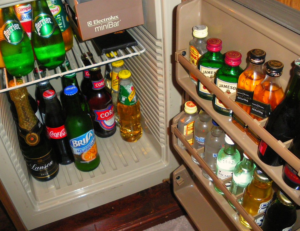 Reid's Palace Hotel! Rare view into the mini-bar in our superior suite @ The Reid's Palace Hotel in Funchal, Madeira Island, Portugal! September 2009 and enjoy!
