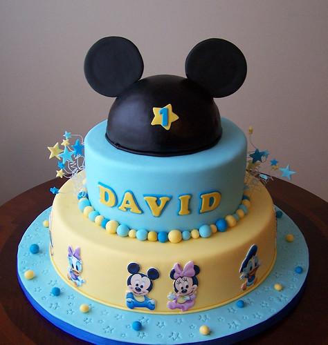 Pastel de baby Mickey - Imagui