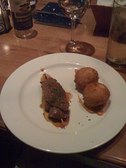 filet beef skewer, potato croquettes (stefohnee) Tags: seattle food restaurants spanish andaluca dinearoundseattle