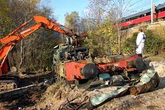 DEMOLITION Diesel 345.1111 (marvin 345) Tags: railroad italy train diesel merci rail demolition x trento locomotive incident railways treno trentino fs trenitalia ferrovia incidente demolizione motrice rottami incidentata d345 interporto roncafort d3451111
