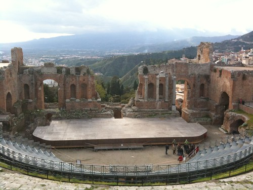The stage at the Greek Theater