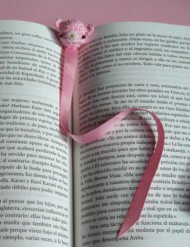 Pink bookmarker
