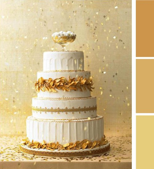 Wedding, Cake, Color