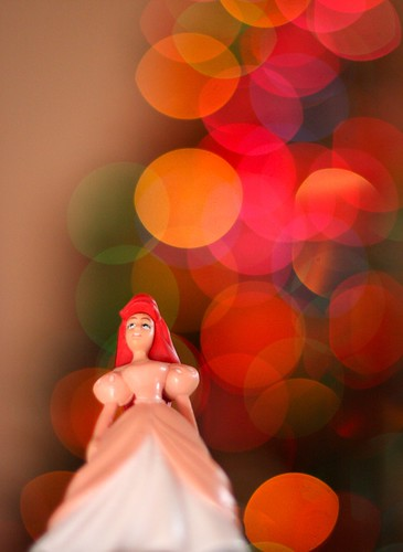 Princess Ariel takes in the Joy of Christmas