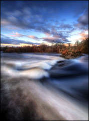 Campsie Linn (angus clyne) Tags: longexposure morning autumn trees winter white tree fall water sunrise river dawn scotland waterfall fishing flood rivertay perthshire falls rapids tay birch linn flikcr spate stanleymills leefilters colorphotoaward campsielinn