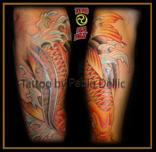 Carpa Tatuada ,koi fish Tattoo by Pablo Dellic