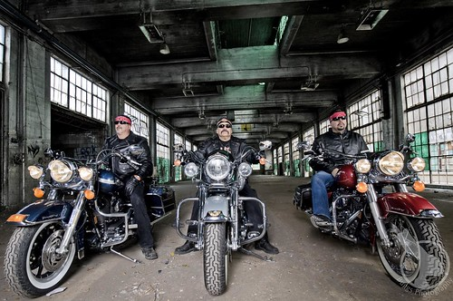 Bikers at the Railyards