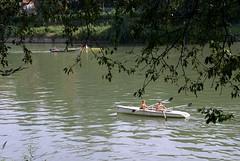 Torino, Ruderer auf dem Po (rowers on the Po) (HEN-Magonza) Tags: italien italy torino italia piemonte po turin piedmont rower piemont ruderer