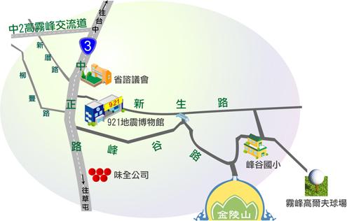金陵山圓滿教堂地圖