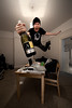 Merry CHRISTMAS! (jæms) Tags: christmas xmas chris selfportrait me photoshop happy flying bottle jump jumping holidays champagne floating celebration explore alcohol merry leap retouched remoteflash 14mm remoteshutter strobist messychristmas