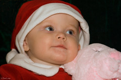 Beth 11 (Sam Lamp Photography) Tags: bear santa christmas pink blue red baby holiday eye hat smiling happy infant elizabeth beth