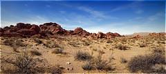 Desert Landscape (l plater) Tags: panorama usa landscape nevada unitedstatesofamerica valleyoffirestatepark ptgui canonef1740f4lusm almostanything panoramicstitch flickrelite lplater unlimitedphotos photoshopcs4 canon5dmkii