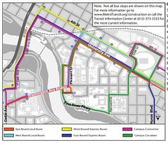 UMN CCLRT bus rerouting