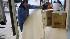 石巻再訪:コンパネ50枚や洗濯機や空気清浄機をつみ下ろす