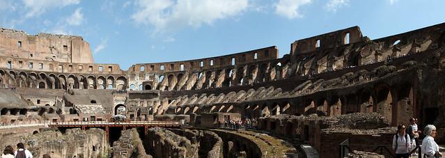 Rome. Inside Coliseum