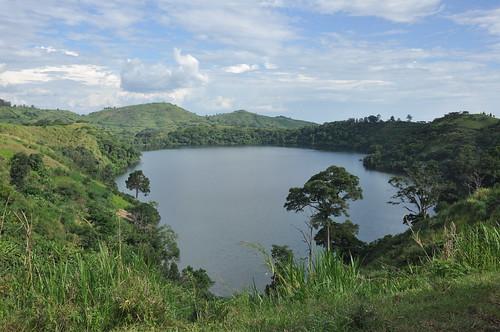 Crater lake, western Uganda