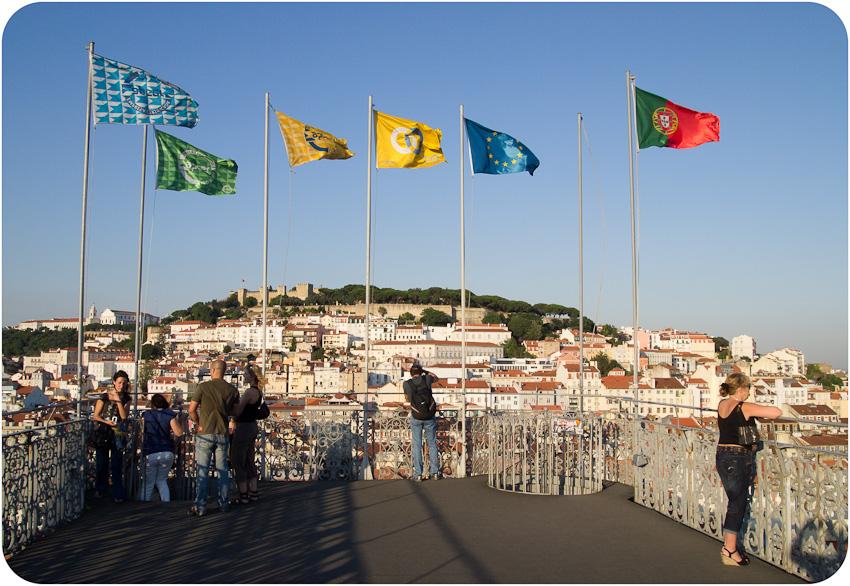 La terrasse de l'Elevador de Santa Justa