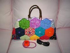 """Summer Love"" bag (nadidenin) Tags: bag origami handmade fabric bags patchwork japanesepattern"