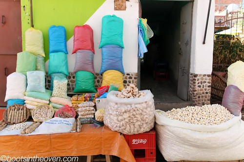 Bags of sweet grains for sale