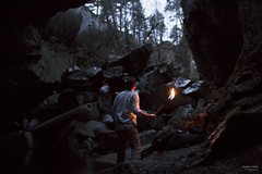 Ascending from Shadows 3 (Anders Hoft) Tags: school light lund film norway 35mm canon fire eos shadows natural torches flames poland polish caves torch national handheld cave cinematography cinematographer ef 1740mm eirik anders lodz 6d d spro nesodden gruver hoft f14l f40l starheim