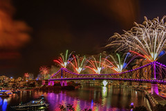 Burst of colour (merbert2012) Tags: riverfire brisbane australia queensland river fireworks cityscape city travel longexposure reflection nikond800 water