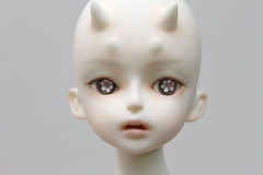 Faceup - Stars Are Falling Liu (Damasquerade) Tags: bjd artist sculpt head balljointdoll rare faceup starsarefallingliu horns teeth mouth open