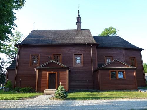 Kościół św. Wawrzyńca w Gliniance od południa