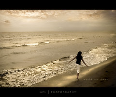 i would run away (alvin lamucho ) Tags: ocean sea love beach monochrome beautiful sepia clouds vintage waves run monotone wife romantic lovely runaway carefree corrs agedtone