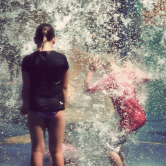 Safe (Kerrie McSnap) Tags: water kids children square nikon mood child atmosphere splash townsville waterpark d60 500x500