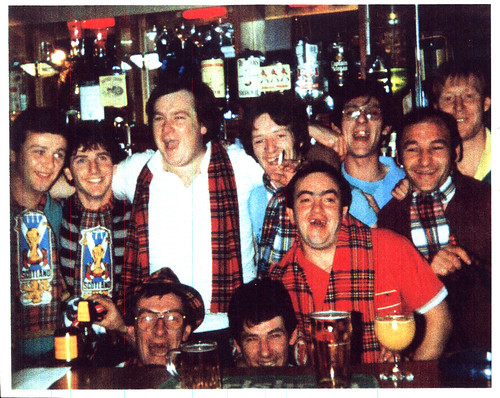 Scottish football fans, London, 1970s.