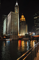 Chicago River in the Evening