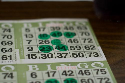 Bingo cards by sarae, on Flickr