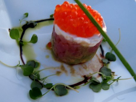 TunaTartar with Salmon Caviar