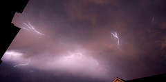 Houston Storms (BennyPix) Tags: sky copyright storm weather night clouds dark texas streak tx © july houston fork bolt lightning split 2009 allrightsreserved unauthorizeduseprohibited unauthorizedusestrictlyprohibited allcommercialuseprohibited