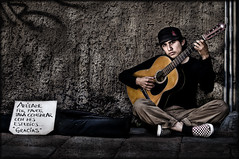 """ The Student "" (Alfredo11) Tags: portrait music art texture face mexico student artist arte emotion guitar expression retrato guitarra cara young explore alfredo frontpage texturas rostro artista joven treatment tratamiento estudiante muchacho emociones expresiones nikoncreativelightingsystem nikond300 nikon70200mm28"